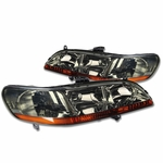 Spyder 1998-2002 Honda Accord Replacement Crystal Headlights - Smoked