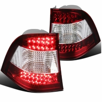1998-2005 Mercedes Benz W163 M Class LED Tail Lights - Red/Chrome