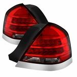1998-2011 Ford Crown Victoria Performance LED Tail Lights - Red Clear