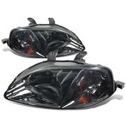 DNA 1999-2000 Honda Civic Euro Style Crystal Headlights - Smoked