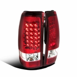 1999-2002 Chevy Silverado / GMC Sierra Performance LED Tail Lights - Red Clear