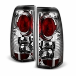 1999-2002 Chevy Silverado 99-06 GMC Sierra Tail Lights - Chrome
