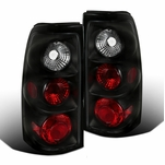 1999-2002 Chevy Silverado / GMC Sierra Euro Style Altezza Tail Lights - Black