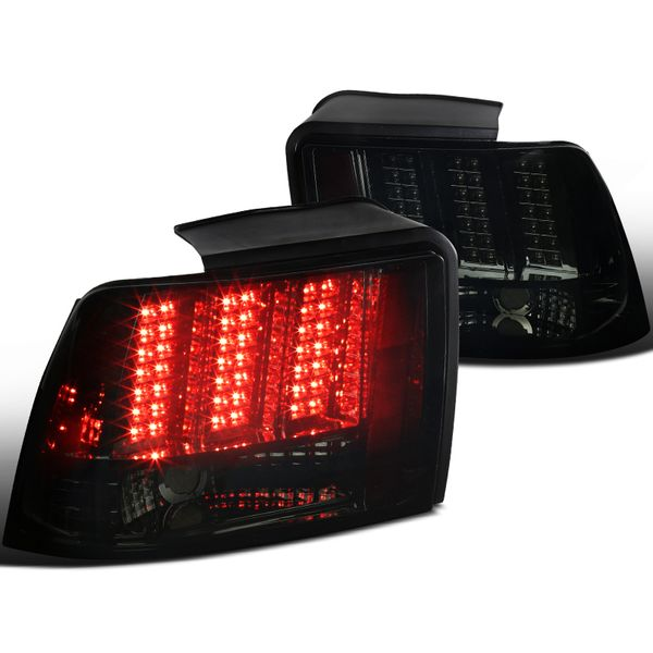 1999-2004 Ford Mustang LED [Sequential Signal] Tail Lights - Smoked