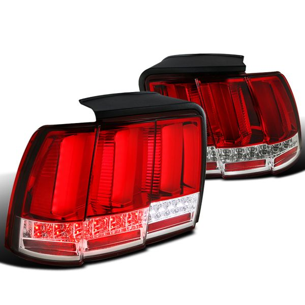 1999-2004 Ford Mustang Sequential LED Tail Lights -  Red