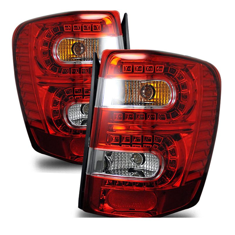 1999-2004 Jeep Grand Cherokee Led Tail Lights   Clear