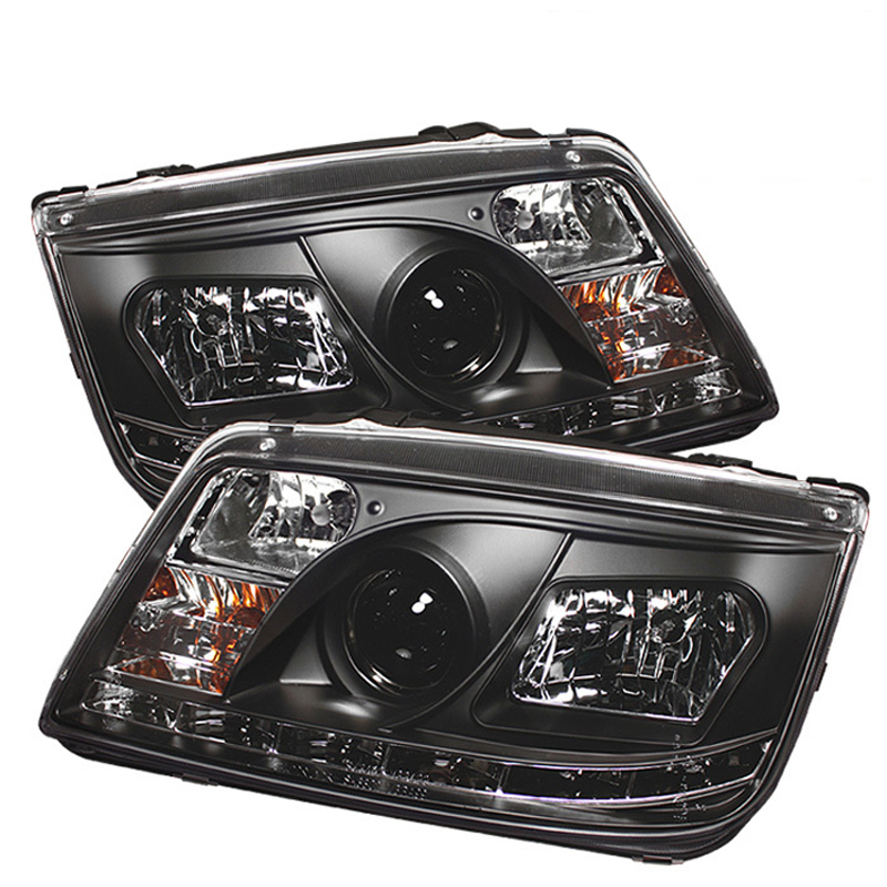 1999 2005 Volkswagen Jetta Led Drl Projector Headlights Black Click To Enlarge
