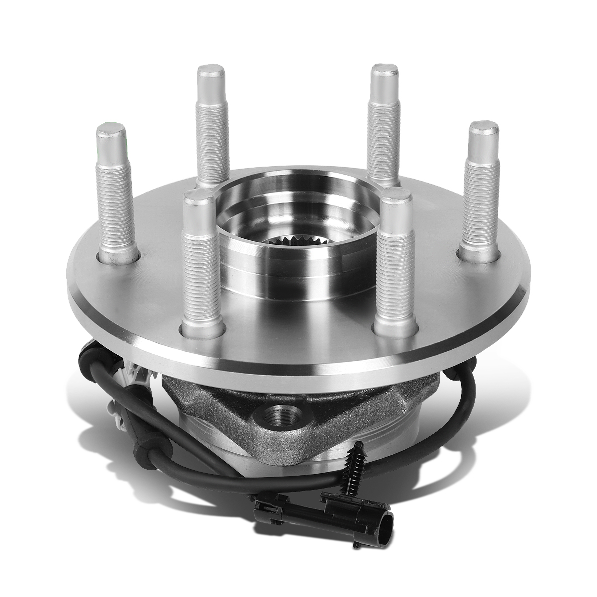 DNA Motoring OE-WHA-002 Semi-Polished Steel Wheel Bearing Hub Assembly 515036 For 02-06 Cadillac Chevy GMC