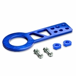 """2.25"""" Anodized Brushed Billet Style Aluminum Front Racing Tow Hook (Blue)"""