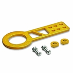 """2.25"""" Anodized Brushed Billet Style Aluminum Front Racing Tow Hook (Gold)"""