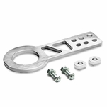 """2.25"""" Anodized Brushed Billet Style Aluminum Front Racing Tow Hook (Silver)"""
