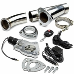 "2.25"" Electric Exhaust Catback/Downpipe Cutout Valve System Kit with Remote"