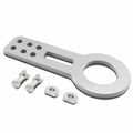 """2.45"""" Anodized Brushed Billet Style Aluminum Front Racing Tow Hook - Silver"""