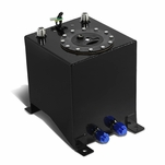 2.5-Gallon Aluminum Fuel Cell Gas Tank with Level Sender and Black Cap - Black