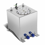 2.5-Gallon Aluminum Fuel Cell Gas Tank with Level Sender and Polished Cap