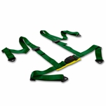 "2"" Nylon Strap 4 Point Shoulder Buckle Harness Bar Green Racing Seat Belt"