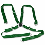 "2"" Nylon Strap 4 Point Shoulder Camlock Harness Bar Green Racing Seat Belt"