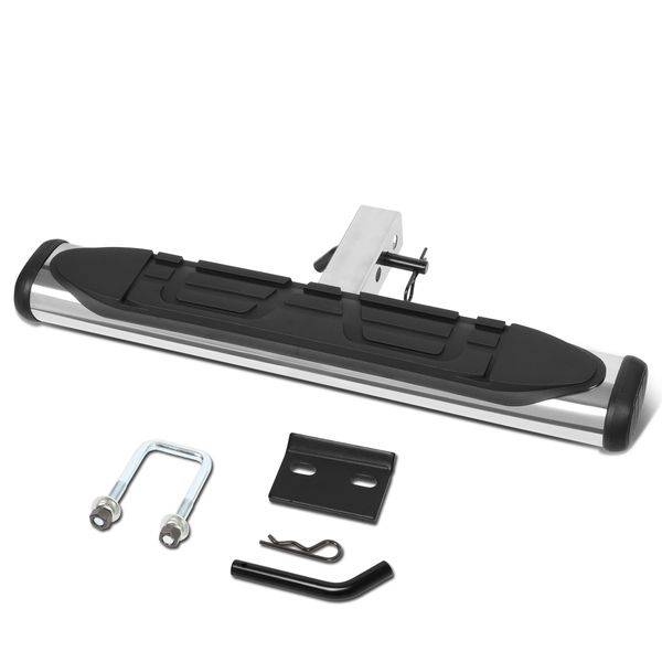2-inch Receiver Rear Bumper Stainless Oval Tubing Hitch Step Bar 26-inch Wide x 4-inch OD