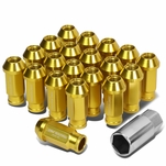 20-Piece M12 x 1.5 Extended Aluminum Alloy Wheel Lug Nuts+Adapter Key Gold