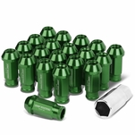 20-Piece M12 x 1.5 Extended Aluminum Alloy Wheel Lug Nuts+Adapter Key Green
