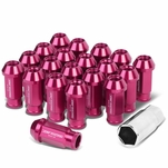 20-Piece M12 x 1.5 Extended Aluminum Alloy Wheel Lug Nuts+Adapter Key Pink