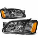 2000-2004 Subaru Legacy Factory Style Replacement Headlights - Black / Amber