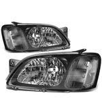 2000-2004 Subaru Legacy Factory Style Replacement Headlights - Black / Clear