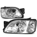 2000-2004 Subaru Legacy Factory Style Replacement Headlights - Chrome / Clear