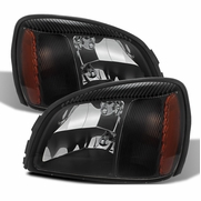 2000-2005 Cadillac Deville Replacement Crystal Headlights - Black