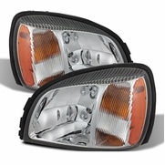2000-2005 Cadillac Deville Replacement Crystal Headlights - Chrome