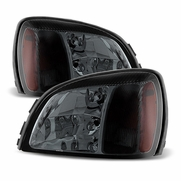 2000-2005 Cadillac Deville Replacement Crystal Headlights - Smoked