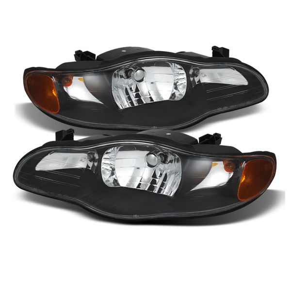 2000-2005 Chevy Monte Carlo Replacement Crystal Headlights - Black