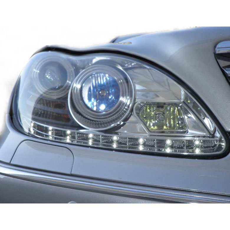 2000 2005 Mercedes Benz S Class W220 Led Drl Euro Projector