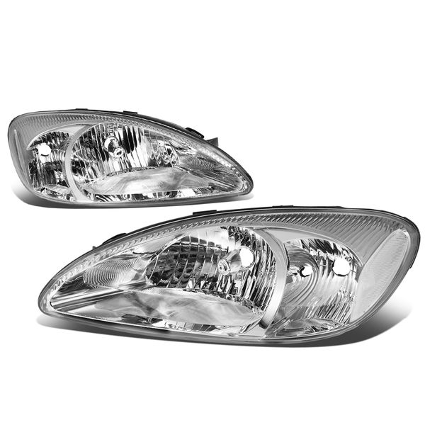 2000-2007 Ford Taurus Factory-Style Headlight - Chrome / Clear