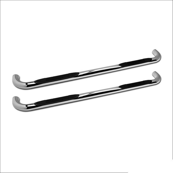 """01-03 Ford F150 Super Crew 3"""" Side Step Nerf Bars HD - Stainless"""