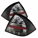 2001-2004 Mercedes Benz W203 C-Class Euro Style LED Tail Lights - Black