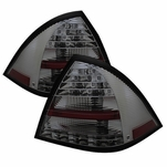 2001-2004 Mercedes Benz W203 C-Class Euro Style LED Tail Lights - Smoked