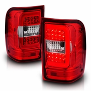 2001-2011 Ford Ranger C-Tube Optic-Style LED Tail Lights - Red Clear