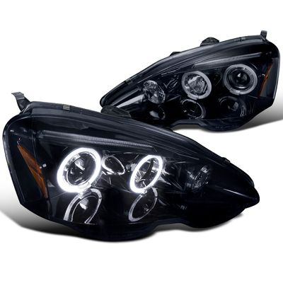 2002 2004 Acura Rsx Angel Eye Halo Amp Led Projector