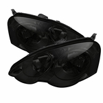 Spec-D 2002-2004 Acura RSX JDM Style Crystal Headlights (Clear Reflector) - Smoked