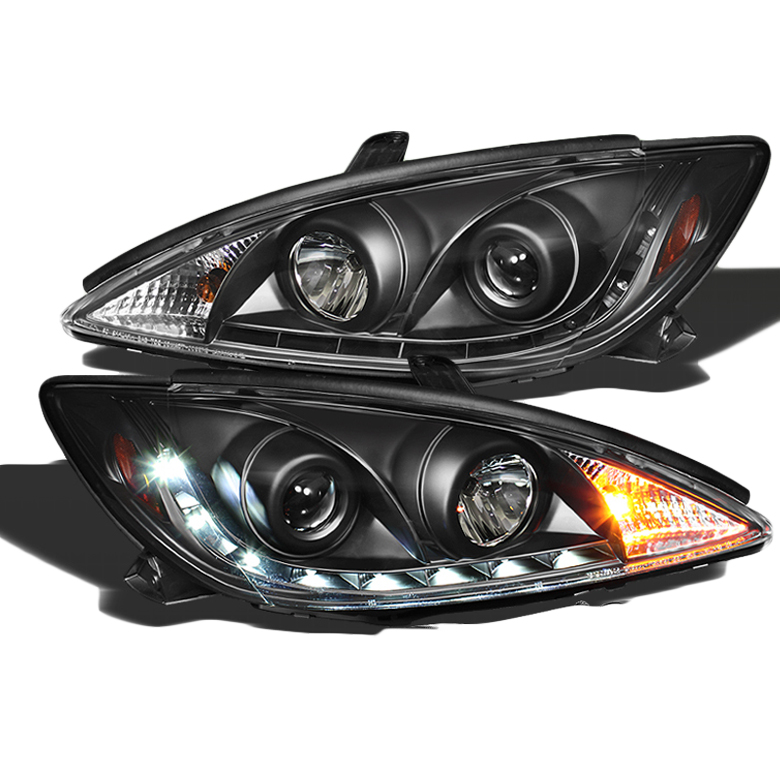 2002 2004 Toyota Camry Led Drl Strip Projector Headlights Black Click To Enlarge