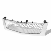 2002-2006 Cadillac Escalade Mesh Front Hood Bumper Grille - Chrome
