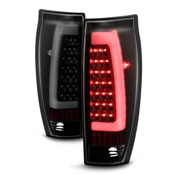 2002-2006 Chevy Avalanche 1500 2500 LED Tube Tail Light - Black Smoked