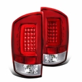 2002-2006 Dodge Ram 1500 2500 3500 Red/Clear LED Bar Tail Lights