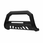 2005/2006-2010 Hummer H3 AVT Aluminum LED Bull Bar Guard - Matte Black
