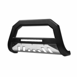 2005/2006-2010 Hummer H3 AVT Aluminum LED Bull Bar Guard w/ Skid Plate - Matte Black