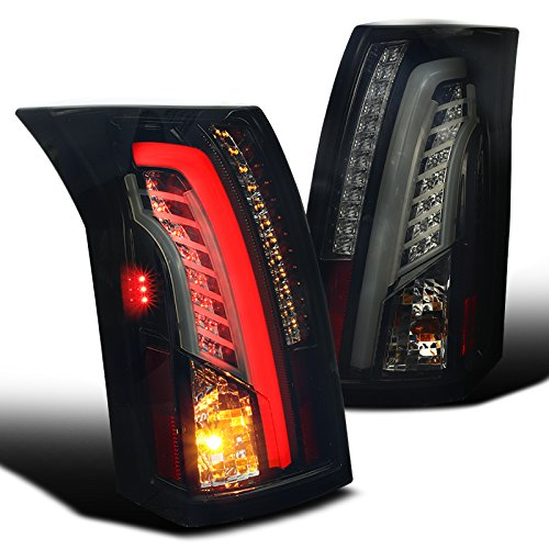 2003-07 Cadillac CTS Optic Style Full LED Tail Lights - Gloss Black