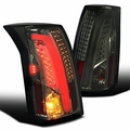 2003-07 Cadillac CTS Optic Style Full LED Tail Lights - Smoked