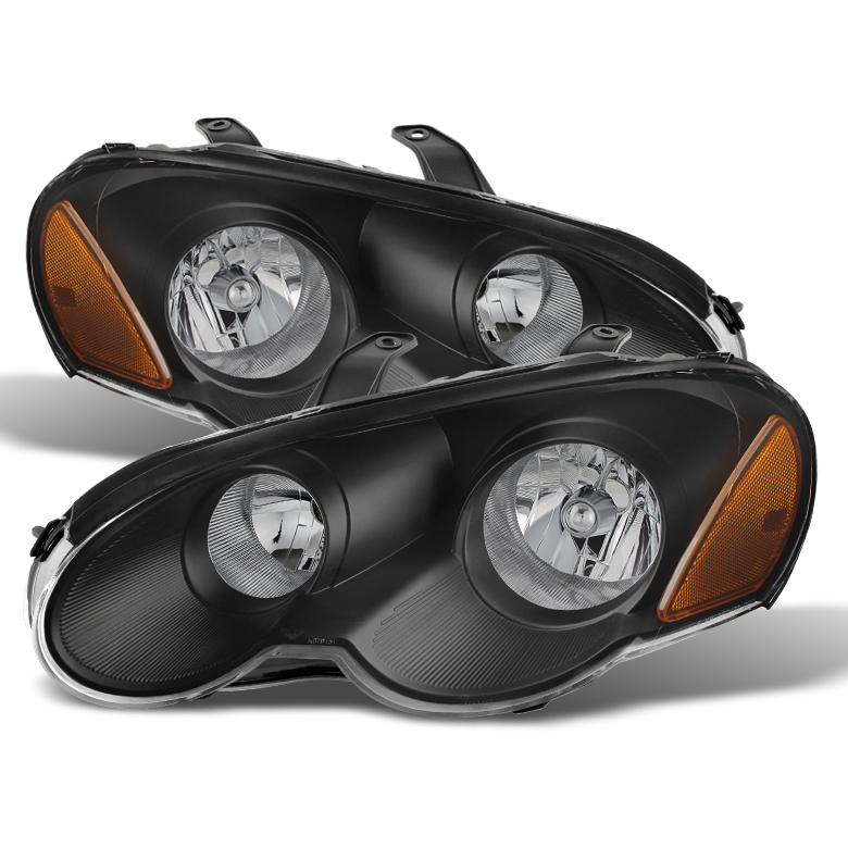 2003 2005 Chrysler Sebring Coupe Replacement Crystal Headlights Black Click To Enlarge
