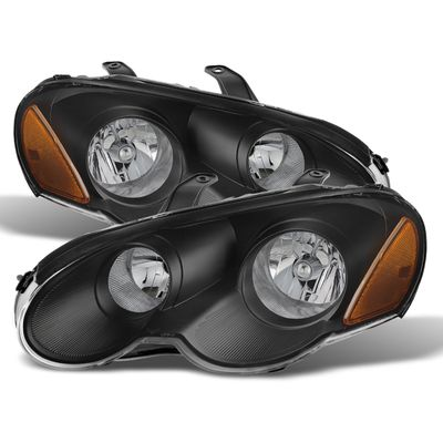2003-2005 Chrysler Sebring Coupe Replacement Crystal Headlights - Black